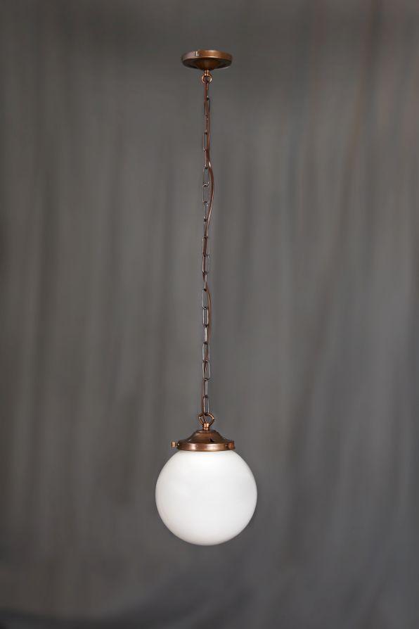 Opalglaslampe kugel 20cm antike m bel interieurs in for Raumgestaltung 20er jahre