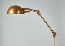 stehlampe aus messing bronziert industrial im eyecatcher dresden