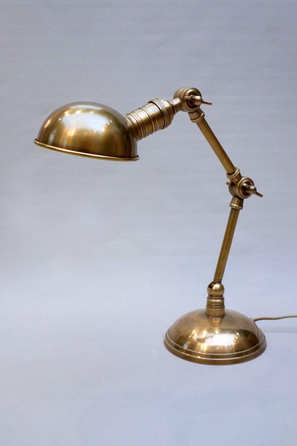 schreibtischleuchte -lampe aus messing industrial im eyecatcher dresden